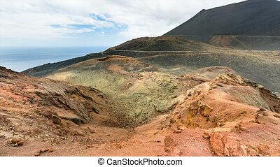 La Palma Volcano Teneguia Timelapse, Spain - Timelapse...