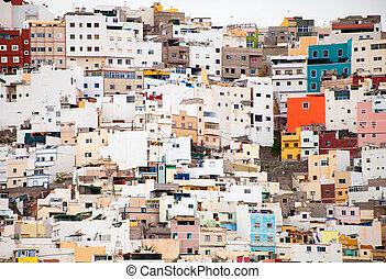 """La Palmas de Gran Canaria, Ciudad Alta, """"High City"""", houses..."""