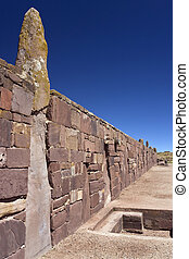 la paz, -, コロンビアの前の, ボリビア, tiwanaku