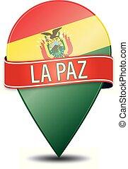 LA PAZ bolivia peru glossy web pin