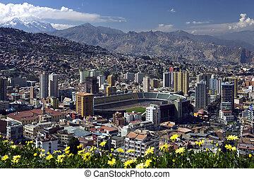 La Paz - Bolivia - The city of La Paz high in the Andes ...