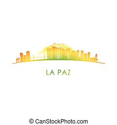 La Paz skyline silhouette.