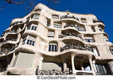 La Pedrera, Antonio Gaudi\'s Casa Mila in Barcelona