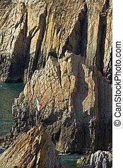 la quebrada, 懸崖潛水員, 在, acapulco, 墨西哥