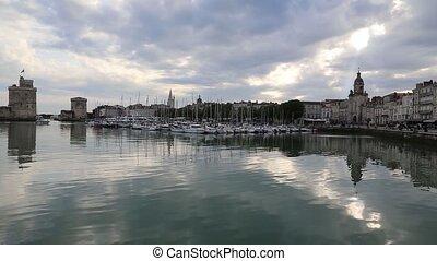 La Rochele France city Harbor