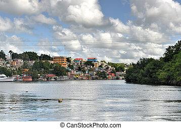 View of La Romana and the Chavon River, Dominican Republic
