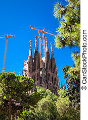 La Sagrada Familia - Catholic church in Catalonia,...