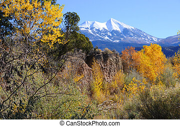 La Sal Mountains in Fall