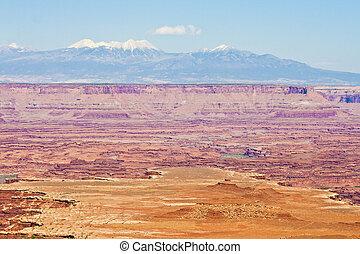La Sal Mountains in utah