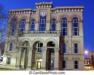 la salle, hrabstwo, historyczny, courthouse, w, ottawa