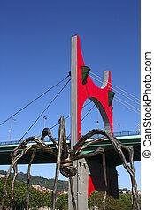 La Salve bridge and The giant spider Euskadi, Bilbao. - La ...