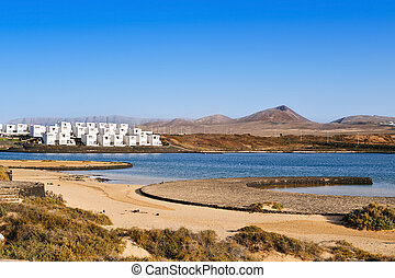 La Santa Beach in Lanzarote, Canary Islands, Spain