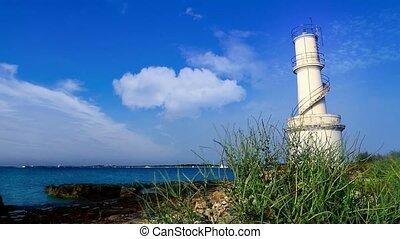 La Savina lighthouse in Formentera Sabina near Ibiza...