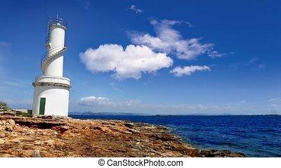 La Savina lighthouse in Formentera Sabina near Ibiza island