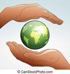 La Terre Dessins Animés Pur Pollué Pollué Vecteur Dessins