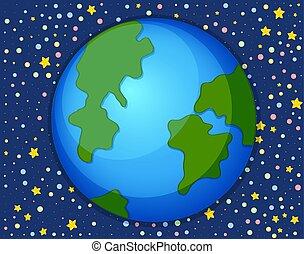 la terre, étoile, espace