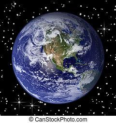 la terre, étoiles, &