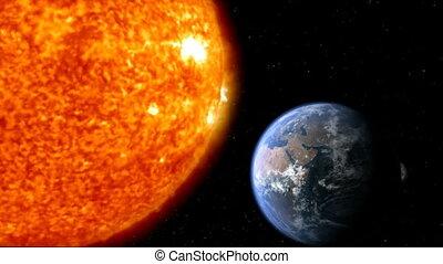 la terre, 01, lune, soleil