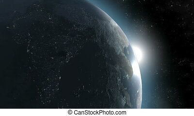 la terre, 1/3, zoomout-earth, mars