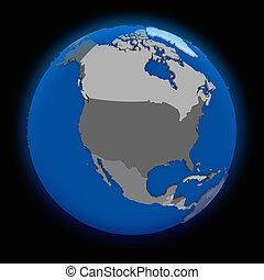 la terre, amérique, nord, politique