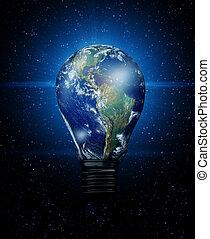 la terre, ampoule