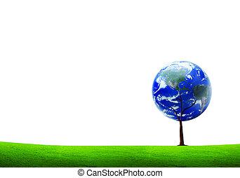 la terre, arbre, éléments, de, ceci, image, meublé, par, nasa