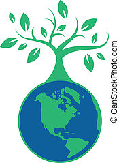 la terre, arbre