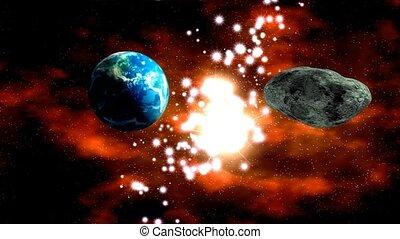 la terre, astéroïde, nearing