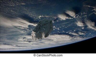 la terre, astéroïde, planète, dangereux, approchant