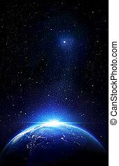 la terre, au-delà, confines