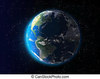 la terre, aube
