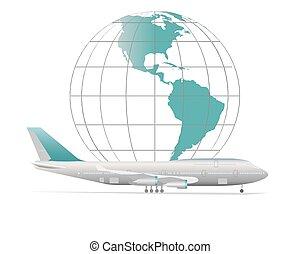 la terre, avion, modèle