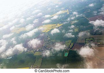 la terre, avion, vue