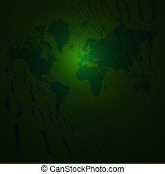 la terre, binaire, vert