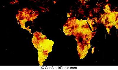 la terre, brûlé, boucle