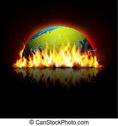 la terre, brûlé