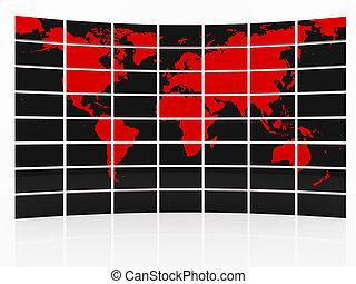 la terre, carte rouge