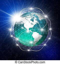 la terre, communication