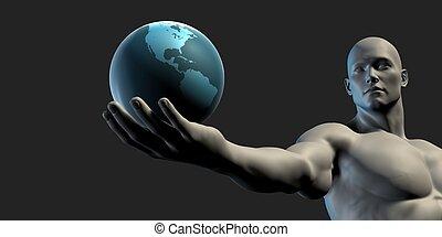 la terre, concept, économie