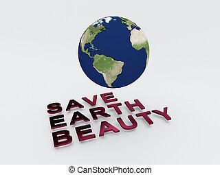 la terre, concept, beauté, sauver