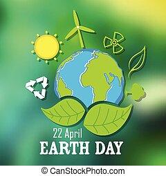 la terre, concept, jour