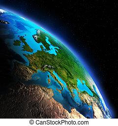 la terre, continent