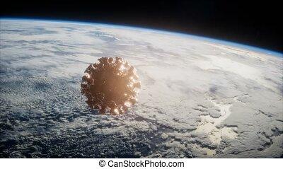 la terre, coronavirus, astéroïde, covid-19