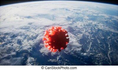 la terre, coronavirus, covid-19, astéroïde