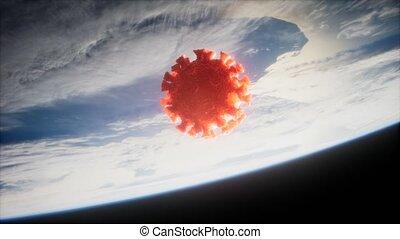 la terre, coronavirus, covid-19, orbite
