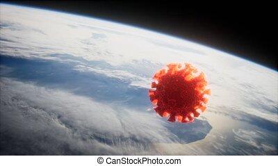la terre, coronavirus, orbite, covid-19