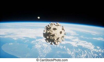 la terre, covid-19, astéroïde, coronavirus