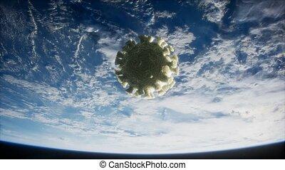 la terre, covid-19, coronavirus, orbite