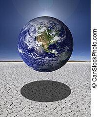 la terre, désert