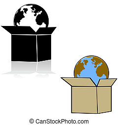 bo te la terre cartons orbite exp dition bo te globe orbite exp dition cartons la. Black Bedroom Furniture Sets. Home Design Ideas